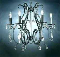 decoration fascinating wrought iron crystal chandelier small mini chandeliers co black lighting
