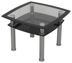 black glass chrome side table lamp table end table contemporary side tables and end tables by avf group