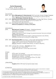 Extraordinary Resume Format For Fast Food Crew With Additional