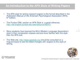 Ppt Introduction To Apa Style Formatting Powerpoint Presentation