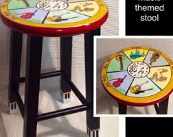 whimsical painted furnitureWhimsical Painted Furniture Painted saddle Bar Stool Painted
