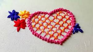 Love Hand Embroidery Designs Hand Embroidery Love Design Design For Cushion Cover