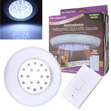 battery operate wireless led night light remote control ceiling light
