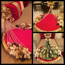 Saree Tray Decoration Simple Indian Gift Traydecorate Tray Like A Stage Wedding Ideas