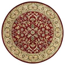 red half circle rug round area rugs the home depot 9 rd compressed