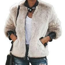 Platinum Plush Jeans Size Chart Womens Stand Collar Zip Up Leather Short Bomber Jacket Plush