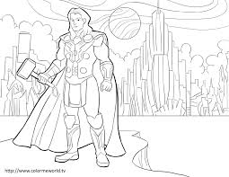 Thor Pdf Printable Coloring Page Avengers Coloring Coloring