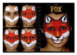 step by step face painting fox