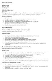 Nursing Resume Samples For New Graduates Graduate Nurse Resume