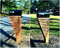 metal mailbox post designs. Plain Post Triple Mailbox Post Plans Double  Ideas Unique Intended Metal Mailbox Post Designs E