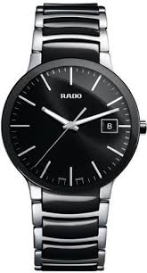 rado centrix black dial stainless steel and black ceramic mens ceramic mens watch r30934162 rado centrix black dial stainless steel and black