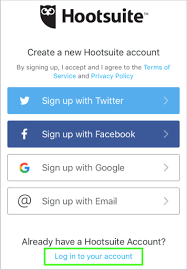 Sign In App Sign In Or Out Of The Hootsuite Mobile App Ios Hootsuite Help Center