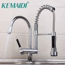 Kemaidi Modern Chrome Kitchen Mixer Valve Water Taps Pull Out Design