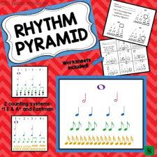 Eastman Counting System Chart Rhythm Pyramid Posters And Rhythm Worksheets