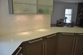 a white back painted glass countertop