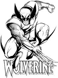 Small Picture wolverine coloring pages printable free superhero coloring page