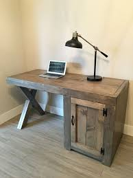 DIY Reycled Wood Sectional Computer Desk: