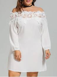 cheap plus size white dresses lace trim off shoulder plus size dress white plus size dresses 4xl