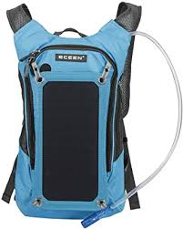 <b>Solar Panel</b> Backpack 2L Hydration Bag <b>Removable</b> Sun powered ...