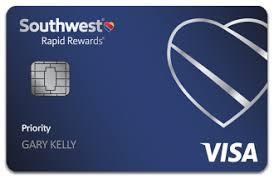 Southwest Rapid Rewards Points Chart Southwest Rapid Rewards Priority Credit Card Review