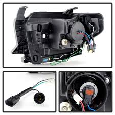 spyder auto 2014 2018 projector headlights light bar drl black VW Bug Headlight Connector at Spyder Headlight Replacement Wire Harness