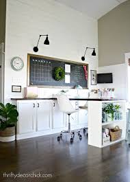 craft room makeover by thrifty decor chick beautiful home office makeover sita