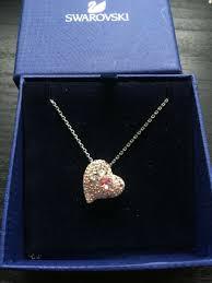 swarovski sybil heart pendant love