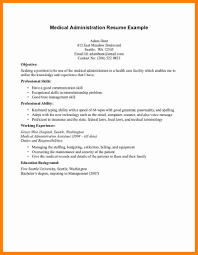 Health Administration Resume Examples Of Resumes Medical