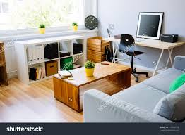 living room desks furniture: modern room home office interior room with sofa desk chair small
