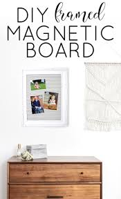 place the magnetic board covered in fabric into the frame and then the wood backing on top it you are done