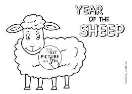 Small Picture Year of sheep coloring pages for kids Chinese new year coloring