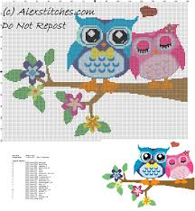 Cross Stitch Free Patterns Awesome Owls In Love Free Cross Stitch Pattern Free Cross Stitch Patterns