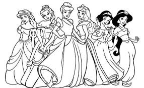 Small Picture All Disney Princesses in One Frame Coloring Pages Batch Coloring