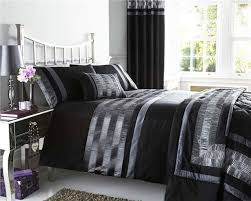 plum charcoal black duvet set cushions curtains throws