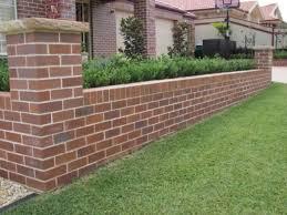 fence design front yard fence brick fence
