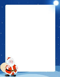 christmas santa borders and frames. Simple Christmas Beautiful Blue Winter Frame Border With A Cute Santa Claus Big Toy  Bag With Christmas Borders And Frames
