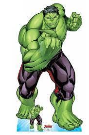 The Hulk Offizieller lebensgroßer Marvel Avengers Pappausschnitt