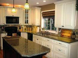 cream colored granite awesome colonial with white cabinets and black wood chairs