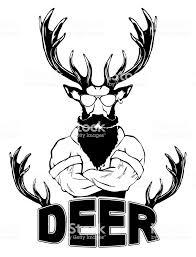 急なファッショナブルな鹿の流行に敏感な動物ビンテージ スタイルの