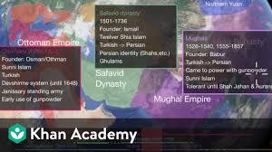 Mughal Empire Timeline Chart Ottoman Safavid And Mughal Empires