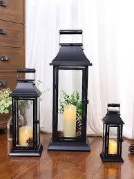 metal black candlestick iron glass