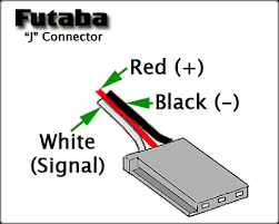 servo wiring information futaba j connector wiring