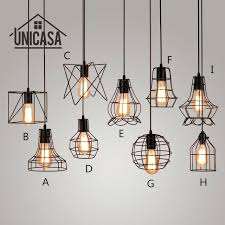 antique wrought iron pendant lights industrial mini lighting fixtures vintage black metal kitchen island office led