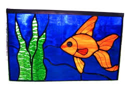 stained glass fishes image 0 stained glass fish craft