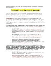 What Does It Mean Objective On A Resume How To Write A Career