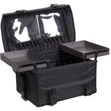 amazon sunrise 26 5 inch 2 in 1 nylon soft sided pro rolling makeup case with drawers and brush holder in black beauty