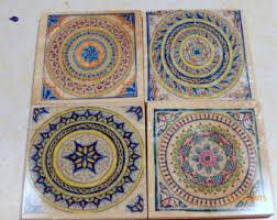Decorative Tile Coasters Decorative coasters Etsy 5