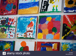 Childrens Artwork Display Childrens Paintings On The Wall Childs Paint Art Artwork Drawing