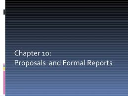 Informal Proposal Interesting Proposal And Formal Reports
