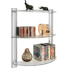 maxwell 3 tier glass wall storage display shelves 150 cd 90 dvd